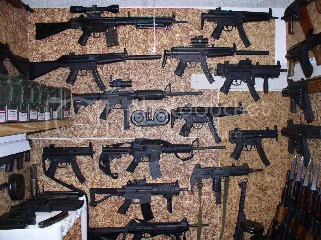 closet full of guns